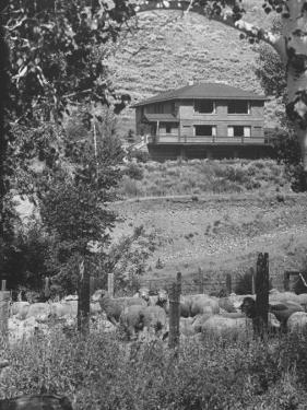 Writer Ernest Hemingway's Home in Sun Valley, About a Mile from Town of Ketchum