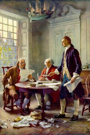 Writing the Declaration of Independence Historical Plastic Sign