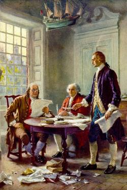 Writing the Declaration of Independence Historical