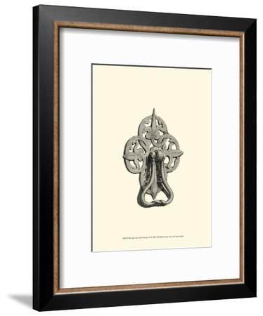 Wrought Iron Door Knocker IV--Framed Art Print