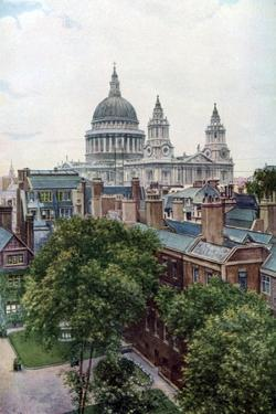 View from the Old Bailey Towards St Paul's Cathedral, London, C1930S by WS Campbell