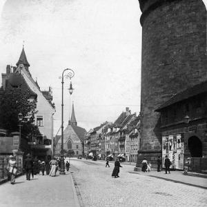 Strassenkarte, Nuremberg, Bavaria, Germany, C1900s by Wurthle & Sons