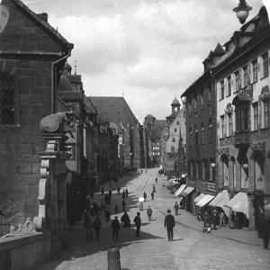 The Fleischbrucke (Meat Bridg), Nuremberg, Germany, C1900s by Wurthle & Sons