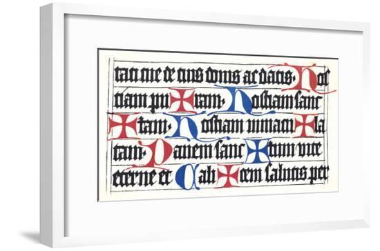 Wurzburg Missal 1470--Framed Giclee Print
