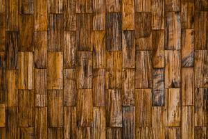 Color Pattern of Teak Wood Decorative Surface by wuttichok