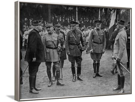 WW1 - Allied Military Commanders--Framed Photographic Print