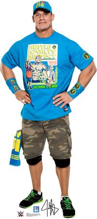 WWE - John Cena Light Blue Shirt Lifesize Standup