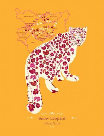Snow Leopard - WWF Contemporary Animals and Wildlife Print