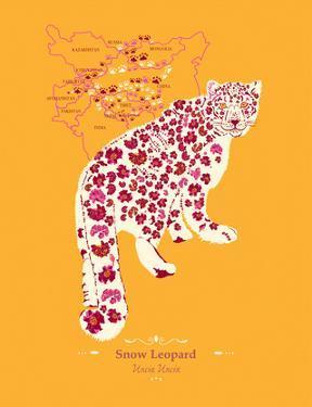Snow Leopard - WWF Contemporary Animals and Wildlife Print by WWF