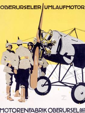 WWI, German Oberursel Aircraft Aviation
