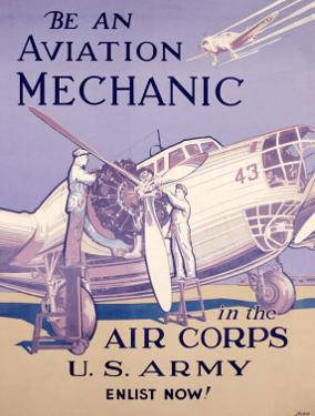 WWII, AAF Army Air Corps Aviation Mechanic