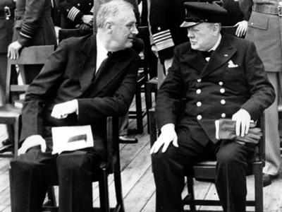 WWII Conference FDR Churchill
