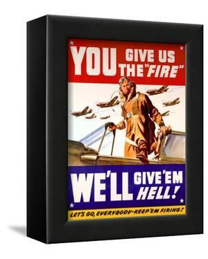WWII US Air Corps 'Give us the Fire'