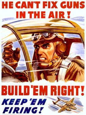WWII US Homefront 'Keep 'Em Firing' Poster