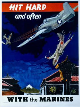 WWII USMC 'Hit Hard and Often!'