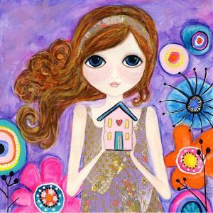 Big Eyed Girl Home Is Where Your Heart Is by Wyanne