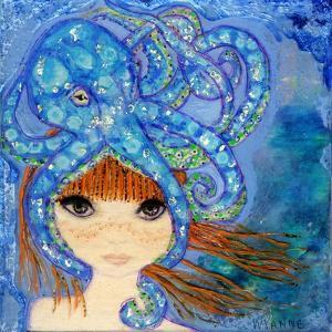 Big Eyed Girl Ocean Blue by Wyanne