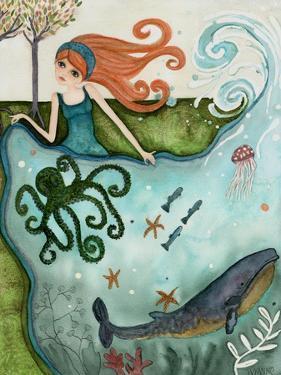Big Eyed Girl Ocean Dreamer by Wyanne