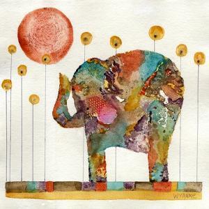 Elephant in Sunflower Field by Wyanne