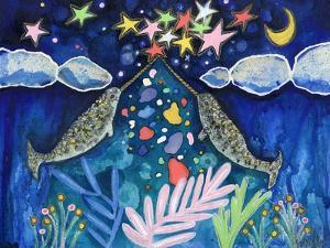 Stargazing Narwhals by Wyanne