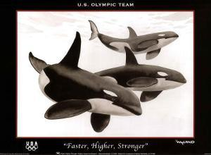 Wyland Faster Higher Stronger Orca Whales U.S. Olympics Team
