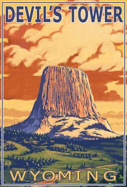 Wyoming, View Of Devil's Tower
