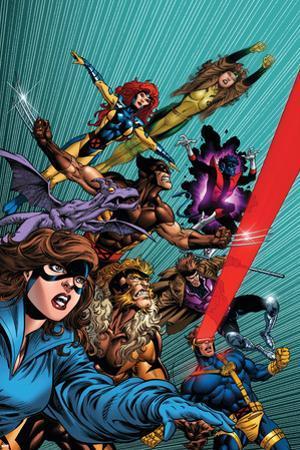 X-Men Forever No. 1: Pryde, Kitty, Lockheed, Sabretooth, Cyclops, Gambit, Wolverine