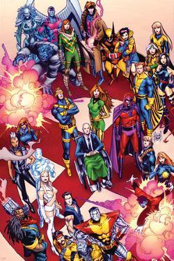 X-Men No. 41: Cyclops, Frost, Emma, Magneto, Magik, Jubilee, Wolverine, Gambit, Summers