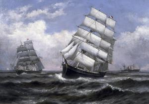 Tall Ships by Xanthus Russell Smith