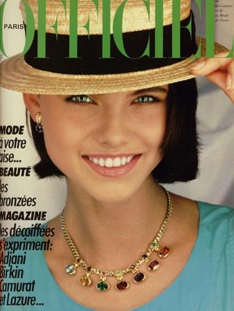 L'Officiel, June 1983 - Chanel Boutique, Blouse en Coton Turquoise