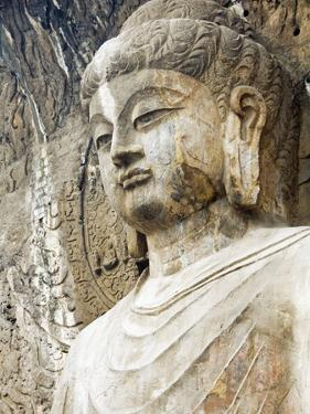 Colossal Buddha Sculpture at Fengxian Temple of Longmen Grottoes by Xiaoyang Liu