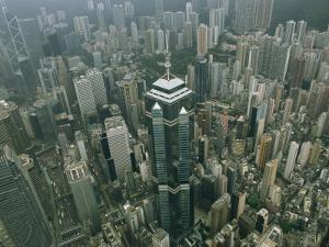 Aerial View of Hong Kongs Skyline Seen from a Helicopter by xPacifica