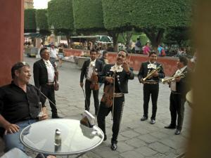 Band Members of Mariachi Band Guanajuatense Play for Tourists by xPacifica