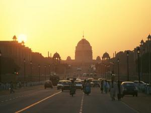 Capital Building in New Delhi, India, at Sunset by xPacifica