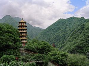 Large Pagoda Is Found in the Mountains of Tienhsiang Area of Taroko Gorge, Taiwan by xPacifica
