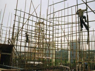 Rare Bamboo Scaffolding Used in Hong Kongs Housing Construction by xPacifica