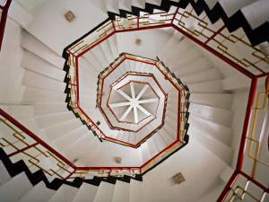 Spiral Staircase in the Interior of a Pagoda Found at Sun Moon Lake, Taiwan by xPacifica