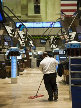 Sweeping the Floor of the New York Stock Exchange after a Slow Day by xPacifica