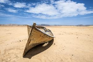 Boat in the Desert, Paracas National Reserve, Peru by xura