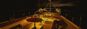 Yacht Cockpit at Night, Caribbean