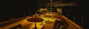 Yacht Cockpit at Night, Caribbean