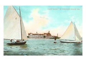 Yacht Racing off Hotel del Coronado, California