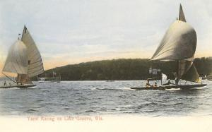 Yacht Racing on Lake Geneva, Wisconsin