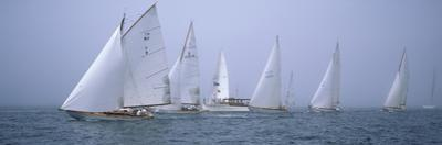 Yachts Racing in the Ocean, Annual Museum of Yachting Classic Yacht Regatta, Newport, Newport Co...