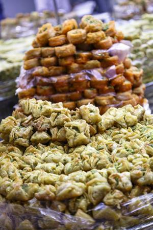 Baklava, an Arab Sweet Pastry at a Shop in the Old City, Jerusalem, Israel, Middle East by Yadid Levy