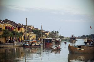 Boats at the Thu Bon River, Hoi An, Vietnam, Indochina, Southeast Asia, Asia by Yadid Levy