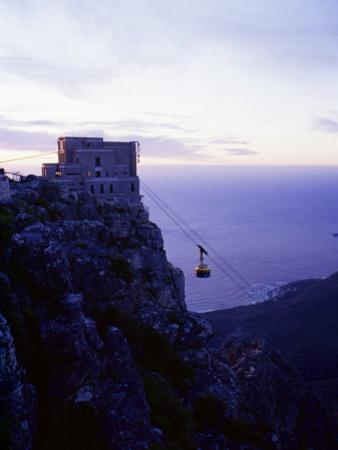 Cable Car Going up Table Mountain, Cape Town, South Africa, Africa by Yadid Levy