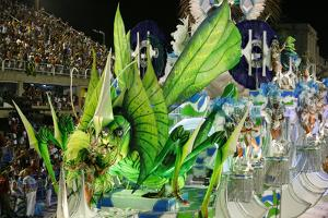 Carnival Parade at the Sambodrome, Rio de Janeiro, Brazil, South America by Yadid Levy