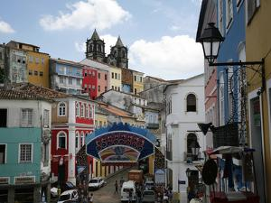 Cobbled Streets and Colonial Architecture, UNESCO World Heritage Site, Salvador, Brazil by Yadid Levy