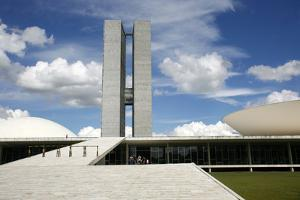 Congresso Nacional (Nat'l Congress) Designed by Oscar Niemeyer, Brasilia, UNESCO Site, Brazil by Yadid Levy